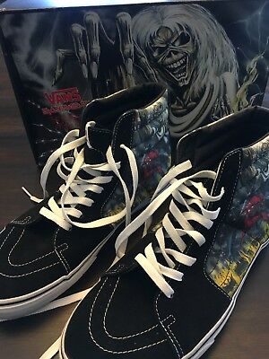 VANS IRON MAIDEN Number Of The Beast Classic Slip-on Shoes RARE ... 667fe28ad