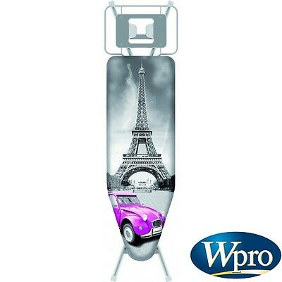 WPRO Housse table repasser PARIS L 130x48 cm molletonnee TITANIUM IBC004 EIFFEL