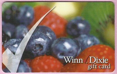 WINN DIXIE Grocery No Value Gift Card - BLUEBERRY - Buy 6 Ship FREE