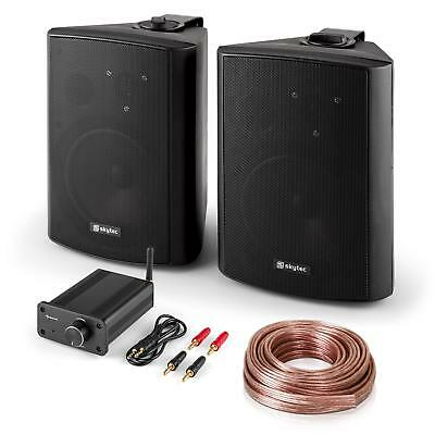 "Kit sono HiFi ""Bluetooth Play BK"" 120 w paire d'enceintes mini Ampli Bluetooth"