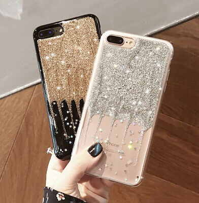 Luxury Bling Glitter Soft TPU Silicone Phone Case Cover For iPhone 7 8 6s 5s SE