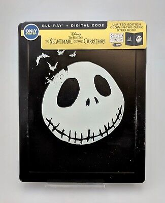 The Nightmare Before Christmas Blu-Ray Digital SteelBook Excellent Shape