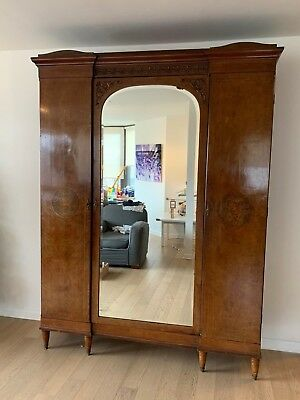 French Antique Louis XV Satinwood Armoire 1890