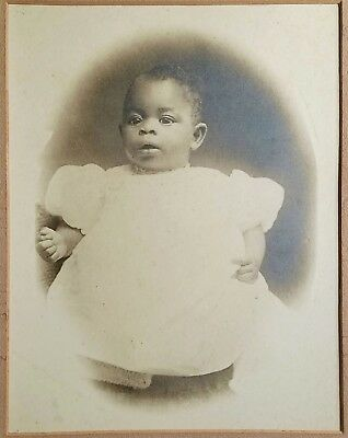 Mammoth Antique Photo Of African American Black Baby