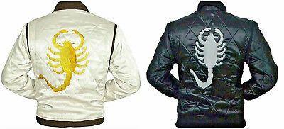Drive Movie Ryan Gosling Slim Fit Trucker Scorpion Mens Satin Jacket - BEST SALE
