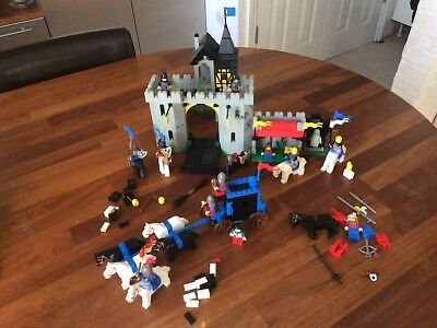 Lego Castle 2 Black With Grey Stone Panel 3 X 3 X 6 Corner Wall 2345p01