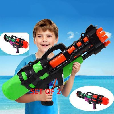 X2 Large Water Gun Pump Action Super Soaker Sprayer Outdoor Beach Garden Toy