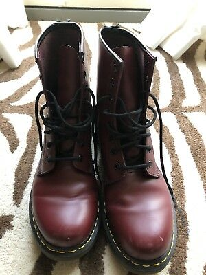 cc7c0901a364 DOC MARTENS 1460 8-Eye Women s Boots Size US W 10-Cherry Red Smooth ...