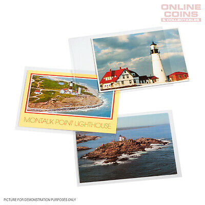 Lighthouse Postcard / Stationery Sleeves 145mm x 95mm - ARCHIVAL SAFE Pack of 50