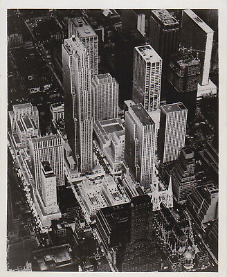 ROCKEFELLER CENTER New York Manhattan * VINTAGE Iconic 1968 Classic press photo
