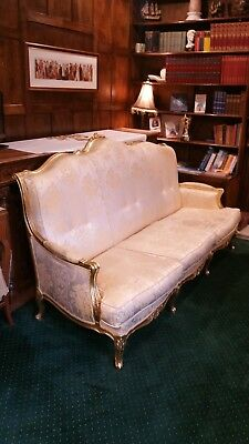 STUNNING 3 Seater Louis XVI style baroque gilded gold sofa