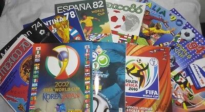 Official Reprinted Panini Album World Cup Complete Set 11 Albums 1970 -2010