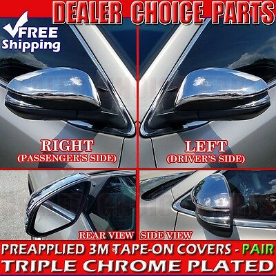 For 2014-2019 TOYOTA 4Runner Triple Chrome Mirror COVERS Overlays trim