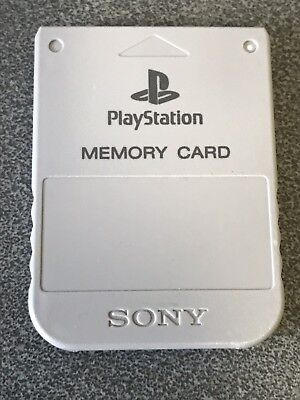 Grey Official PS1 Memory Card - Sony PlayStation One 1 PSOne Tested SCPH-1020