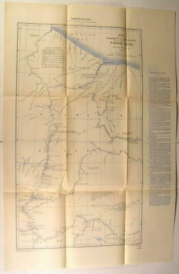 Keewatin District Winisk River Hudson Bay nice 1903 Canada geological survey map