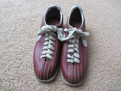 dfd406209b2047 DEADSTOCK VINTAGE 80s Nike Bowling Shoes Maroon Silver 1983 MENS SIZE 10