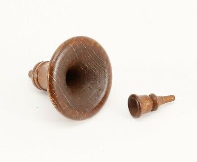 """Cuckoo Clock Horn and Mouthpiece Wood Case Hardware 1"""" 25 mm Brown Germany"""