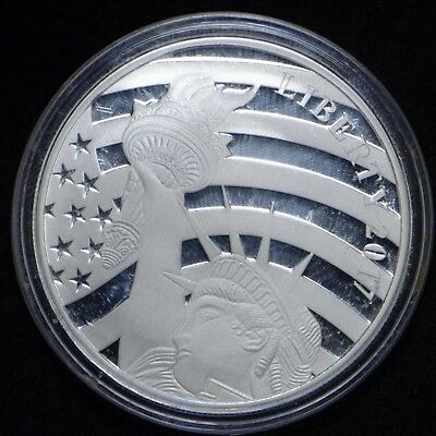 2017 Cook Islands U.S. $1 1/2 OZ Proof Statue of Liberty Silver Coin (slb1388)