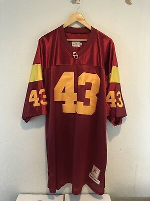 4795c9378 Troy Polamalu USC Trojans Gridiron Greats Jersey Sz 60 4XL Stitched Vintage  Red
