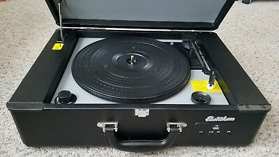 ElectroHome Briefcase Vinyl Record Player USB EANOS300 TESTED/WORKS PERFECT LN+