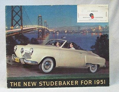 Vintage Automobile Advertising  -- 1951 Studebaker