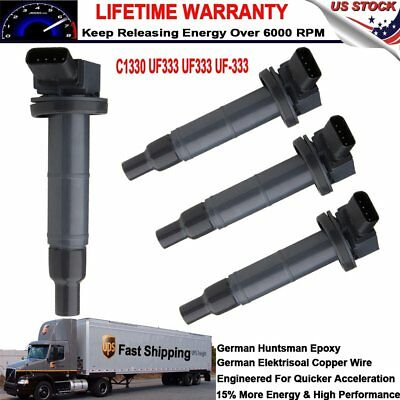 4 Ignition Coil Pack for 2001-2012 Toyota Camry Lexus Scion tC 1.8/2.4L l4 UF333