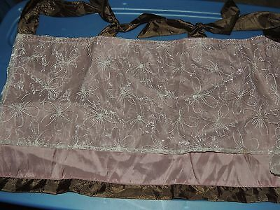Cocalo Daniella Valance Tie Top Baby Nursery Layered Floral Brown Pink