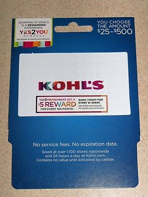 KOHL's Retail Department Store - $25 Gift Card!!!