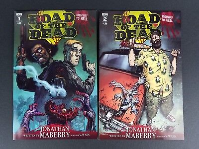Road Of The Dead Highway To Hell (IDW) #1 & #2 Both Cover A