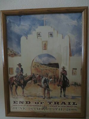 Single Action Shooting Society Sass Poster End Of Trail Signed By Buck Taylor