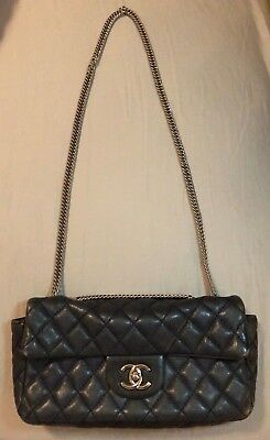 Chanel - Vintage Lambskin Quilted Rectangular Flap Bag (Blue)