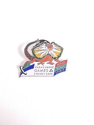 Sydney 2000 Paralympic Games Mind Body Spirit Lizzie Mascot Pin Badge #9-04022-2