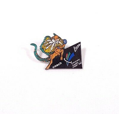 Sydney 2000 Paralympic Games Coach Lizzie The Lizard Mascot Pin Badge #813863