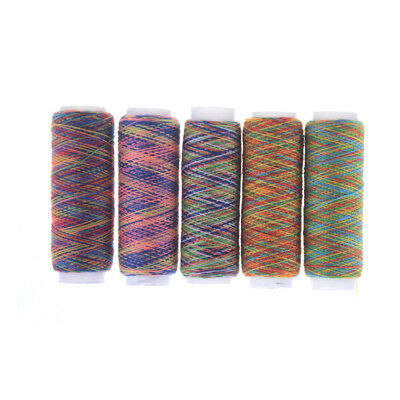 5Pcs Rainbow Color Hand Quilting Embroidery Sewing Thread DIY Sewing Supplies