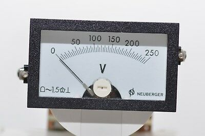 Einbau-Instrument / Panel Meter v. Neuberger Messins. Typ RUDG50, 0 - 250 V, NOS