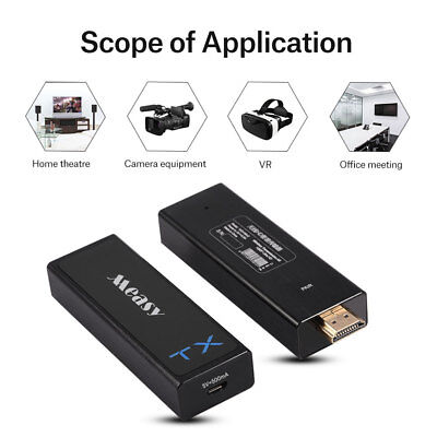 Measy 3D 1080P HDMI Wireless Video Audio Transmission Transmitter + Receiver USB