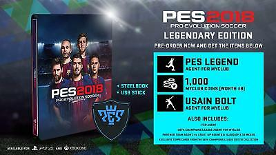 PS4 Game Pes 2018 Legendary Edition pro Evolution Soccer 18 Football New
