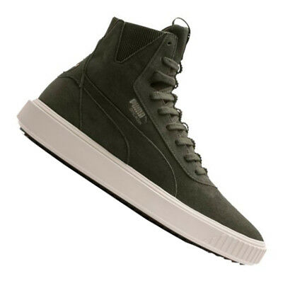 8cf3674e937c PUMA BREAKER HI Mens White Suede High Top Lace Up Sneakers Shoes ...