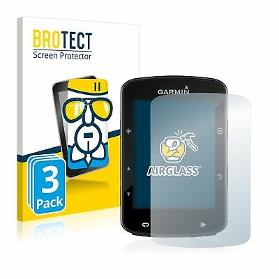 Garmin Edge 520 Plus GPS, 3 x BROTECT® AirGlass® Premium Glass Screen Protector