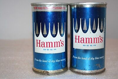 Hamm's Beer 12 oz flat top  & SS zip tab beer cans from St. Paul, Minnesota