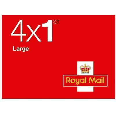 4 X 1st class LARGE Stamps NEW Royal Mail Postage Stamp!