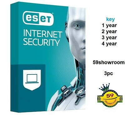 ESET internet security / 3pc /Windows / 1 KEY  1/2/3/3/4/5 year EMAIL DELIVER