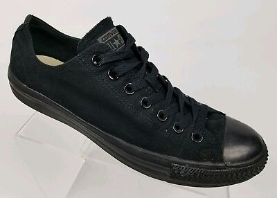 8347995839a CONVERSE Men s Chuck Taylor All Star Sneakers All Black Canvas Low Top Size  10