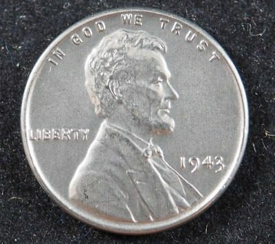 1943 P Lincoln Wheat Cent (BU) Steel Penny Brilliant Uncirculated US Coin