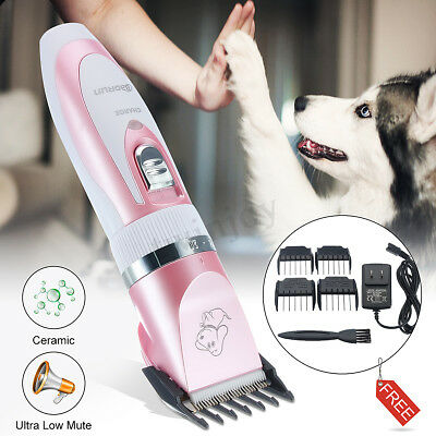 Electric Cordless Pet Dog Grooming Clipper Low Noise Hair Razor Shaver Trimmer