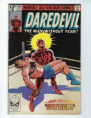 DAREDEVIL # 164 (Frank Miller Art, MAY 1980), VG+