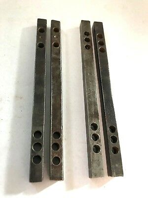 """4 ANTIQUE 2- 4 5/16"""" and 2- 4 3/16"""" DOOR KNOB 1/4"""" CONNECTING ROD SHAFT SPINDLES"""