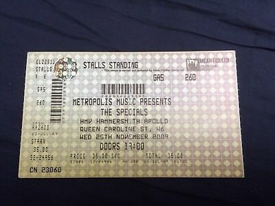 The Specials - Rare Used Concert Ticket - Hammersmith Apollo