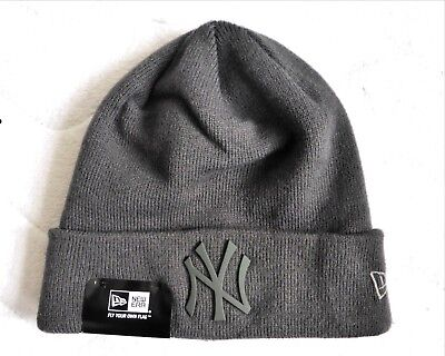 NY YANKEES New Era Dark Grey BEANIE TUQUE Hat MLB Toque OSFA New York USA