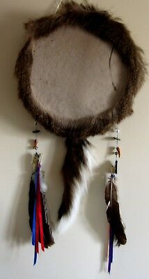 "Native drum 16"" Meditation Relaxation Decor Beater included  New Wild Deerskin"
